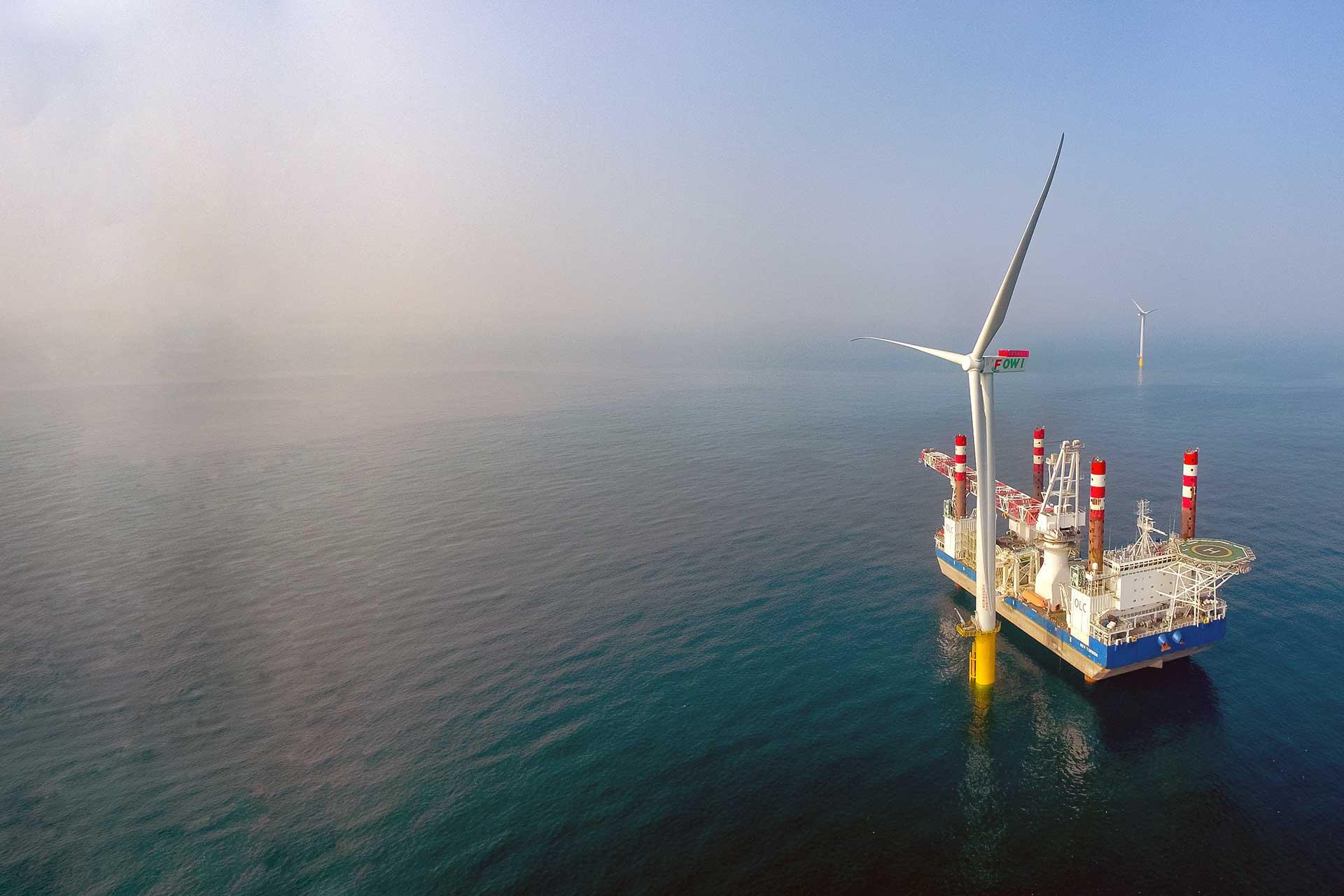 離岸風力發電 風電安裝船 formosa1