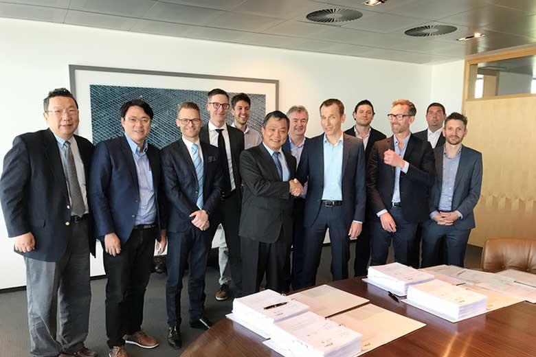 海洋風電與比利時商楊德諾簽訂合約